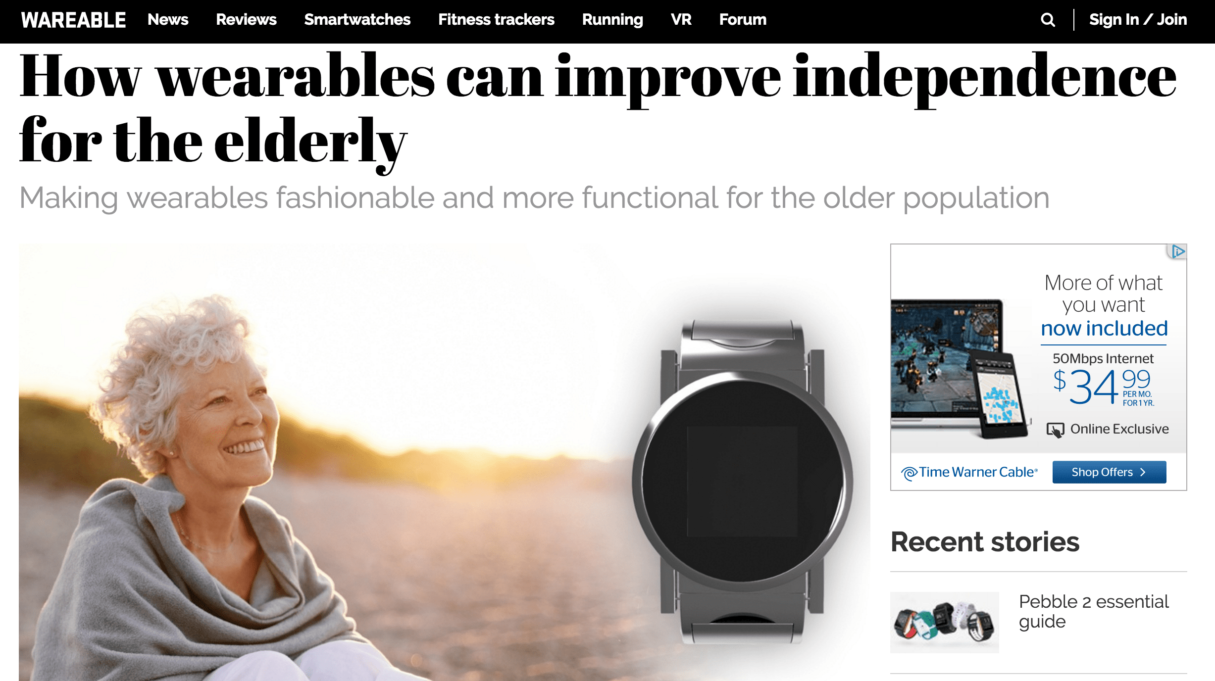 Making wearables fashionable and more functional for the older population