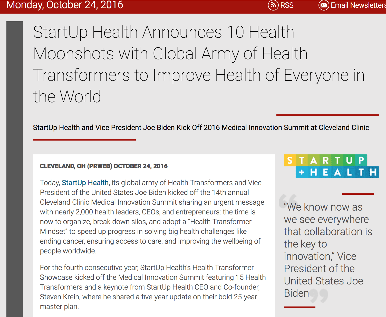 Jean Anne Booth Mentioned in StartUp Health Announces 10 Health Moonshots with Global Army of Health Transformers to Improve Health of Everyone in the World