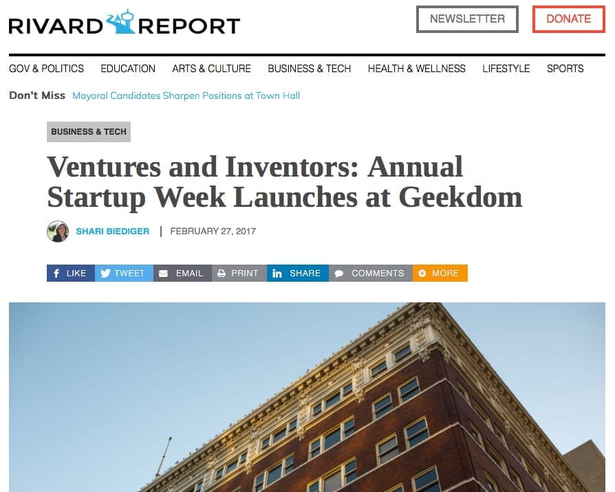 The Rivard Report features UnaliWear's CEO Jean Anne Booth