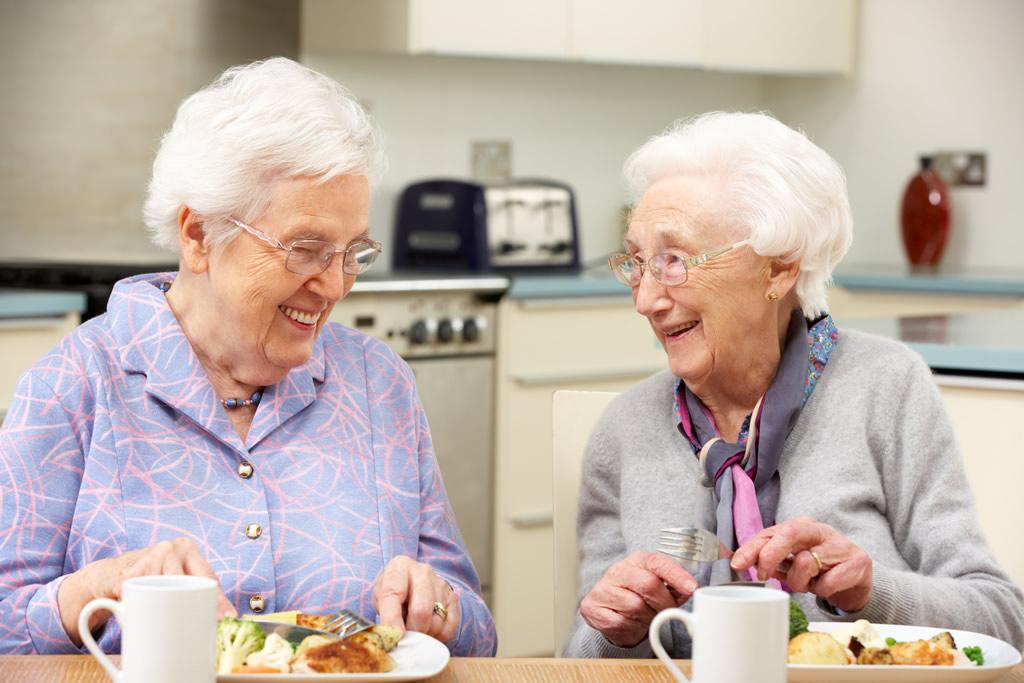 Elderly Ladies eating
