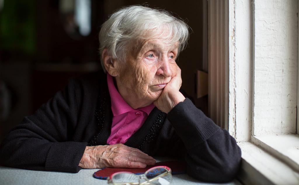 Worried Elderly Lady